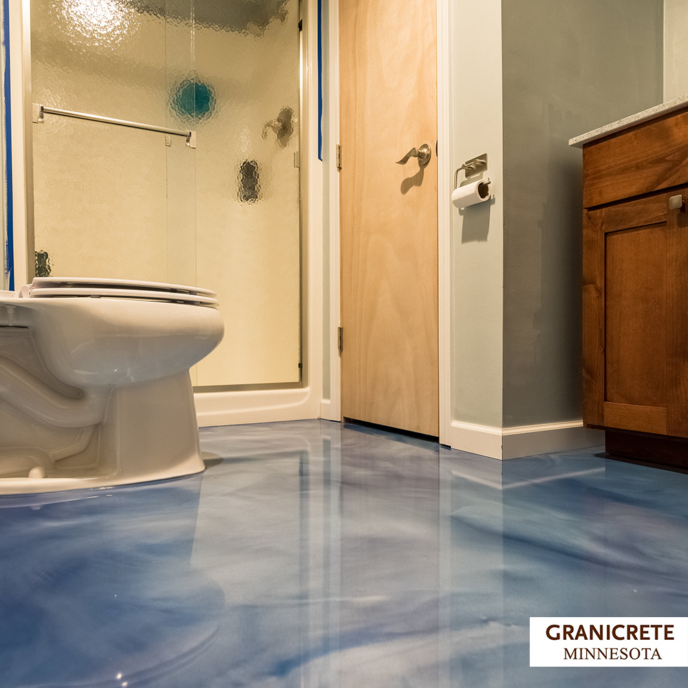 Ocean Blue Bachelor Pad Flooring
